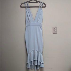 Boohoo New Icy Blue 4 ways stretch mermaid dress